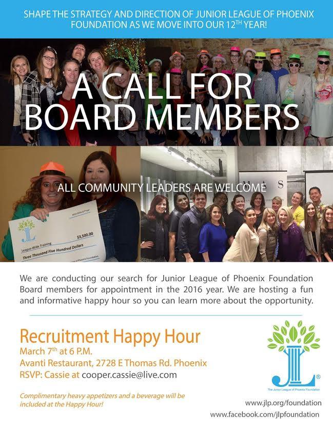 JLPF Board Member Recruitment